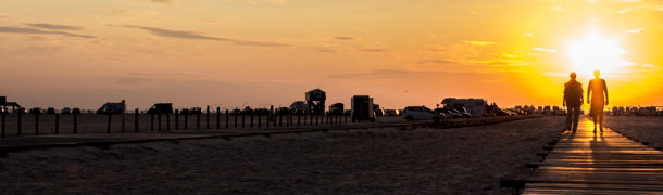 NORDSEEappartements - Ferienwohung St Peter Ording - Sonnenuntergang Nordsee Strand