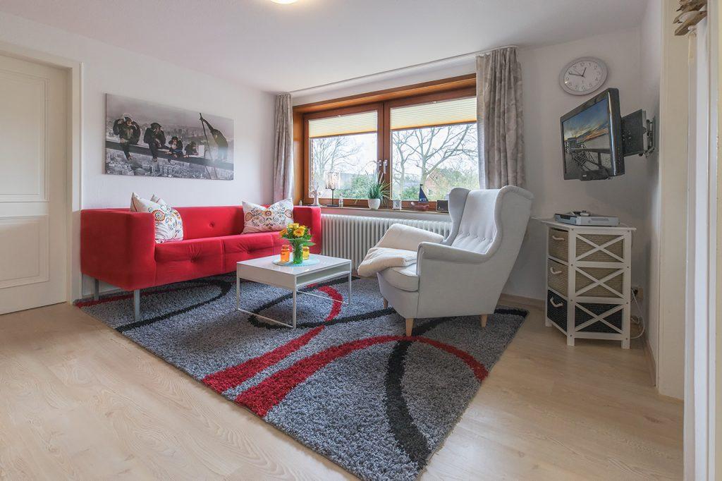 Ferienwohnung Bangbüx Wohnzimmer