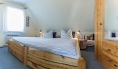 Ferienwohnung Joli St Peter Ording Dorf Doppelbett Schlafzimmer