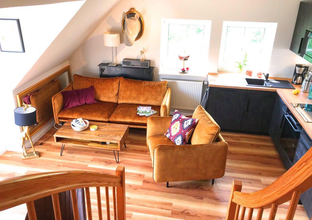 Ferienwohnung Auster Wohnzimmer